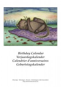 Preview cat birthday calendar with my selfmade drawings. Soon for sale.
