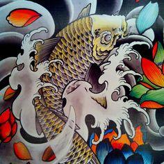 koi tatoo design