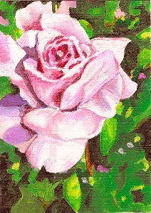 """My 20th ACEO. 2005 Jillian Crider. 2.5x3.5"""" """"Solitude"""" Acrylic painting. It took so long, that this was about the last I did like this. HAHA!"""