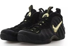 official photos 009ef 302d6 Nike Air Foamposite Pro Mens 624041-009 Black Metallic Gold Shoes Size 11  New!
