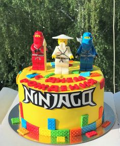 9th Birthday Parties, Lego Birthday Party, Birthday Cake, Lego Cake, Lego Ninjago, Food Design, Projects To Try, Cakes, Desserts