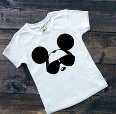 Toddler Boy White Tee Personalized Cool Mickey by TheHotPolkaDot