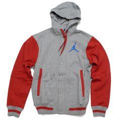 098714ed3e8c Jordan The Varsity Hoodie - Grey Blue Red 99