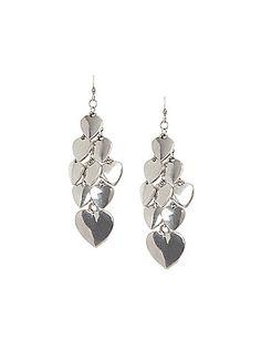 Lane Bryant   Heart Cluster Earrings
