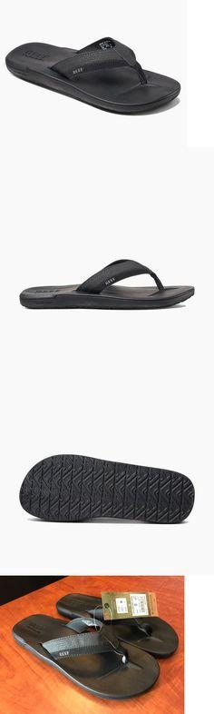 0bac6020399d Reef Contoured Cushion Men s Sandals Flip Flop Super Soft Black Size 9 New