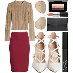 ! by king-alysa on Polyvore featuring polyvore, fashion, style, Michael Kors, H&M, Gianvito Rossi, Ray-Ban, NARS Cosmetics and MAC Cosmetics