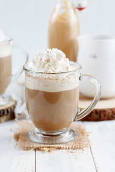 Skip the coffee shop drive through this year and make your own pumpkin spice latte at home!