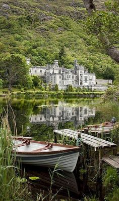 Kylemore Abbey in Connemara, County Galway, #Ireland (by Dkammy), #Travel Ideas