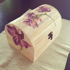 Wooden orchid Chest Made by Juja.