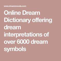dream moods dream dictionary meanings for symbols that - 236×236