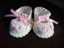 Christening Baby Booties Crochet Pattern