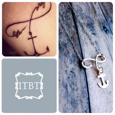 Definite tattoo option ... I like  Sterling Infinity Anchor Necklace - Handmade Infinity Necklace - Tattoo Necklace Design - Anchor Infnity Cross Necklace on Etsy, $55.00