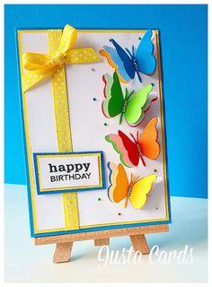 by the Memory Box Design Team Happy Birthday Cards Handmade, Homemade Birthday Cards, Handmade Greetings, Greeting Cards Handmade, Homemade Cards, Card Birthday, Bee Cards, Bulletins, Butterfly Cards