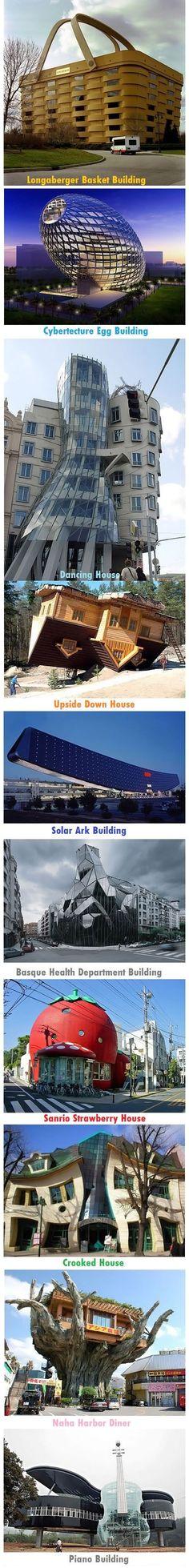 Unique buildings of the world.