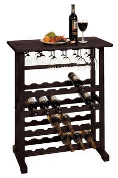 Furniture - Vinny Wine Rack, 24-Bottle with Glass Hanger – Oxeme Home