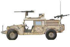 HMMWV M1025A2, 5º Grupo de Fuerzas Especiales, Irak, verano del 2004. Pin by Paolo Marzioli
