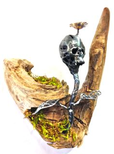 """Title: Balance Mediums: Copper, Steel, Driftwood, Moss. Quote: """"To have live there must be death to keep everything in balance."""""""