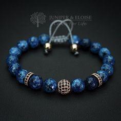 Bracciale uomo gioielli delle donne bracciale blu discoteca