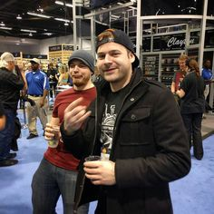 Rob Scallon and Jared Dines advising me on my future blogging career at NAMM