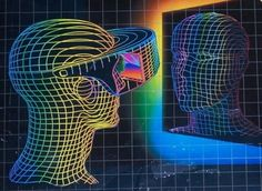 Modern virtual reality has been a topic of discussion for the last few years, but where did it all begin? With the rising popularity of virtual reality devices like the HTC Vive and Oculus Rift, more… Vaporwave, Retro Vector, Futuristic Art, Retro Waves, Wow Art, Glitch Art, Expo, Grafik Design, Sci Fi Art
