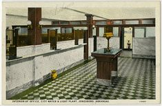 Interior view of an office at the City Water and Light Plant in Jonesboro Arkansas State Archives G938.02