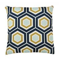 Copy Cat Chic: Neiman Marcus Green and Navy Hex Pillow