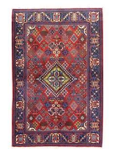 """Authentic Finely Hand-Knotted Persian Joshigan Rug (4'7""""x7"""")"""