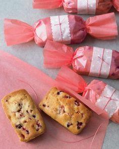 Cranberry-orange-walnut tea cakes recipe | marthastewartweddings.com