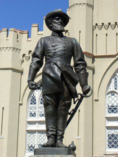 The Stonewall Jackson Statue at Virginia Military Institute; Jackson was a professor at the university before he was a general in the Civil War