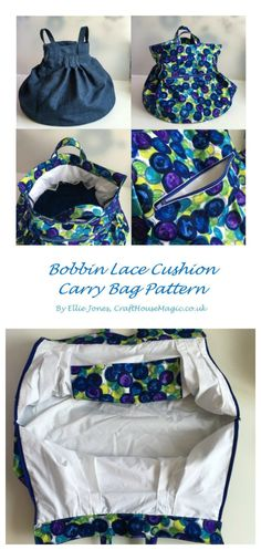 The bobbin lace cushion carry bag sewing pattern. It also makes a great craft bag or purse.