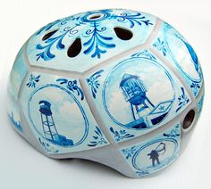 hand painted helmet #ridecolorfully