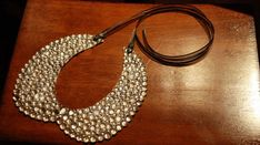 DIY rhinestone collar necklace