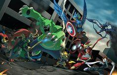 Image for Desktop: pokemon avengers