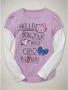 Hello Kitty Hello/Bonjour Two-in-One Tee  $26.95