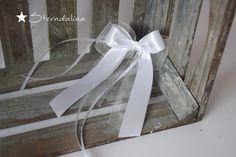 Hochzeitsdeko - 10 Antennenschleifen Autoschleife Organza Chiffon - ein Designerstück von Sterndalina bei DaWanda