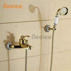 Cheap Shower Faucets, Buy Quality Bathtub Faucets Directly From China Shower  Faucet Mixer Suppliers: Beelee Wall Mounted Golden Brass Bathroom Bathtub  ...