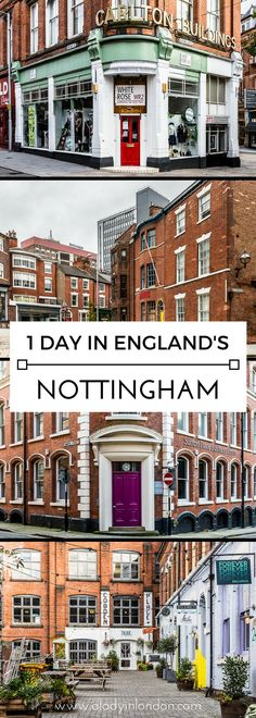 How to spend 1 day in England's Nottingham. There's a lot to see and do here.  #england #nottingham #uk #travel