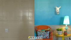 como cobrir azulejo antigo - EKtube por Erika Karpuk