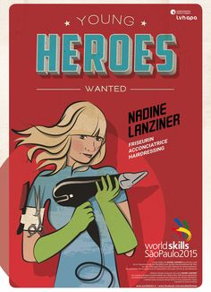 Für die Berufsweltmeisterschaft in SAO PAOLO - BRASILIEN entstand die illustrierte Kampagne YOUNG HEROES WANTED. Mehr unter: www.rotwild.it/blog Web Design, Comic Books, Hero, Comics, World, Cover, Blog, Italia, Advertising Agency