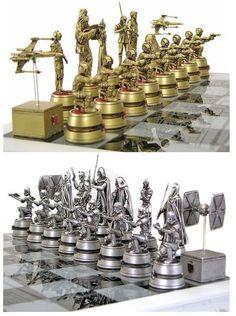 Star Wars Chess Set, For The True Nerd In You Cool, das will ich auch haben Star Wars Chess Set, Take My Money, Star Wars Gifts, Chess Pieces, Board Games, 3d Printing, Geek Stuff, Stars, Creative