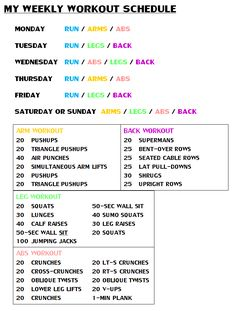 Not so much the schedule but good workouts!