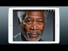 "You won't believe it isn't real... Artist Kyle Lambert created this ""photo"" of Morgan Freeman on an iPad. Just watch. // ▶ iPad Art - Morgan Freeman Finger Painting - YouTube"