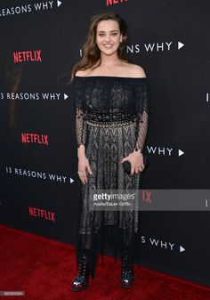 Actress Katherine Langford arrives at the Premiere of Netflix's '13 Reasons Why' at Paramount Pictures on March 30, 2017 in Los Angeles, California.