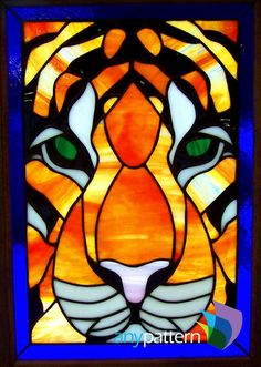 Tiger Face - 9 x 13 – anypattern.com stained glass