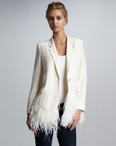 elizabeth and james feather-hem blazer.  I never get tired of feathers.