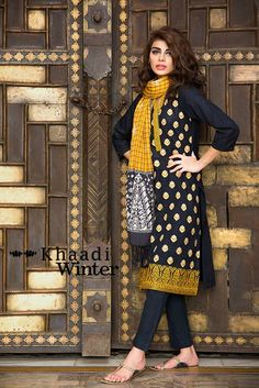 Khaadi Winter Pret Wear Dresses 2015-16 for Girls