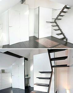 Outra disposicao de escadas, separacao do espaco, mais pratico