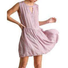 Umgee Women's Washed Sleeveless Dress Lilac