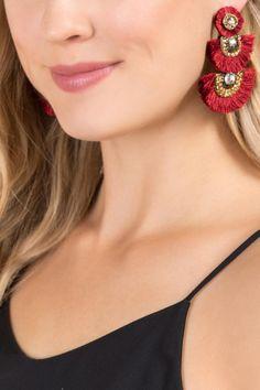 Jessica Fan Statement Earrings | Francesca's