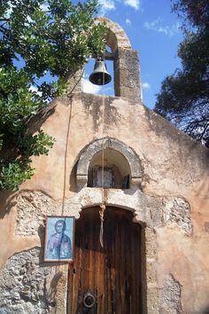 Old Church of Ayios Georgios, St. George in Crete Island, Greece Mykonos, Santorini, Empire Ottoman, Albania, Crete Island, Greek House, Chios, Church Architecture, Cathedral Church